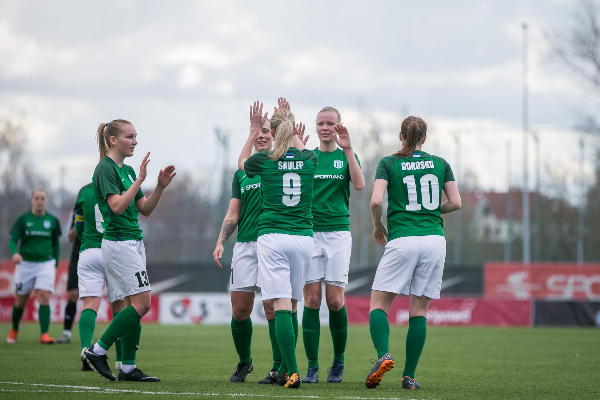 36c781130bf Naiste Meistriliigas alistas Flora naiskond Pärnu - Uudised
