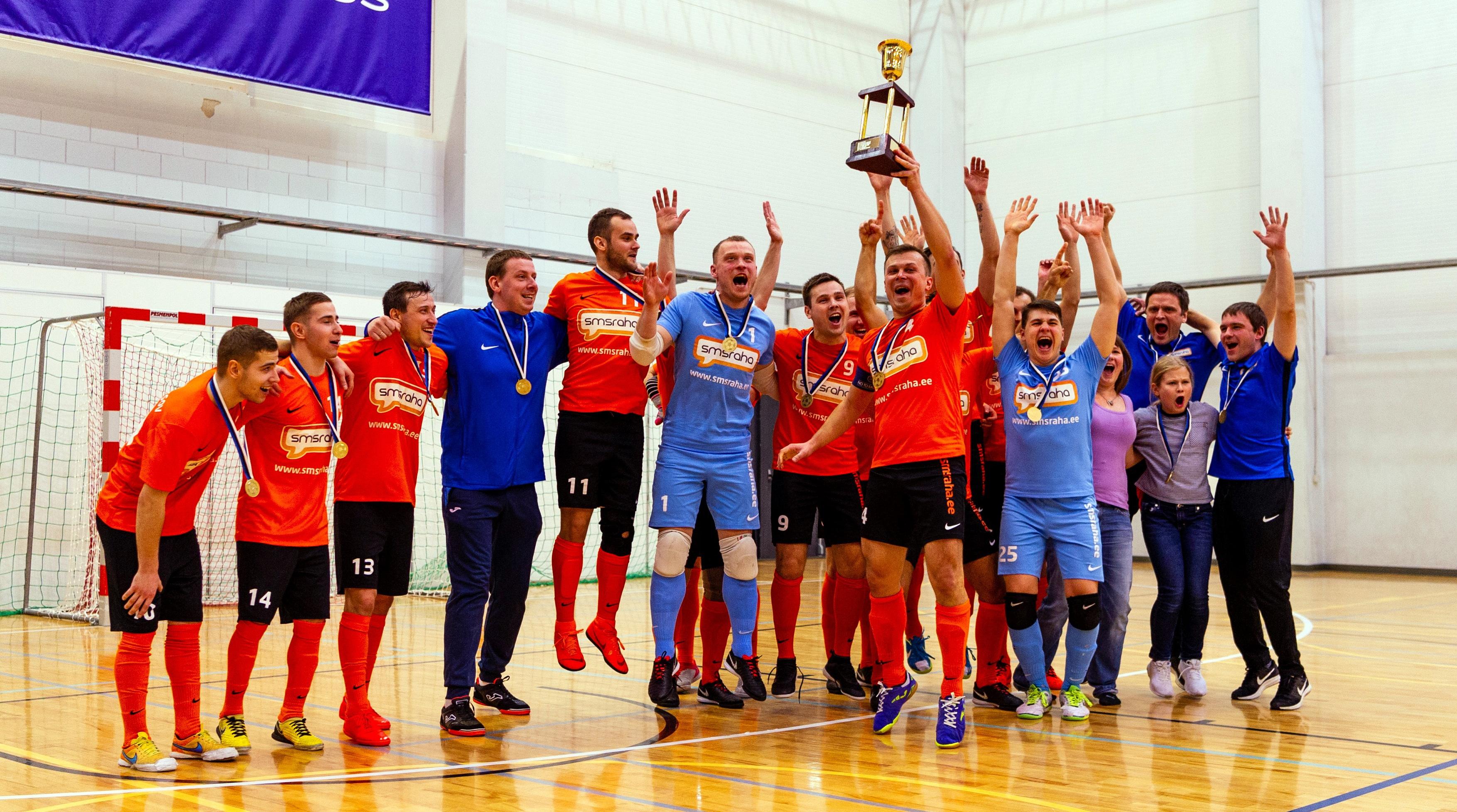 b5b0fedf2a3 VIDEO Saalijalgpalli karikafinaali võitis Viimsi FC Smsraha! - Uudised